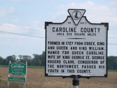 Caroline County Face of Marker image. Click for full size.