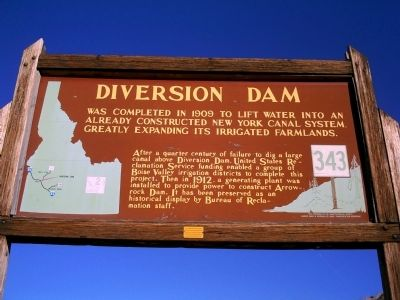 Diversion Dam Marker Photo, Click for full size