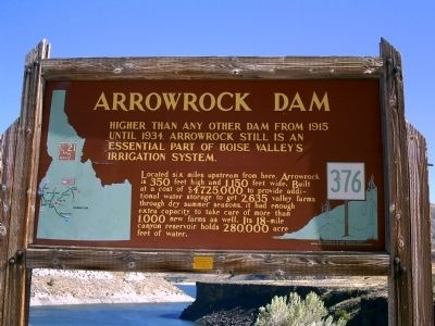 Arrowrock Dam Marker image. Click for full size.