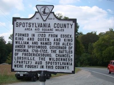 Spotsylvania County Face of Marker image. Click for full size.