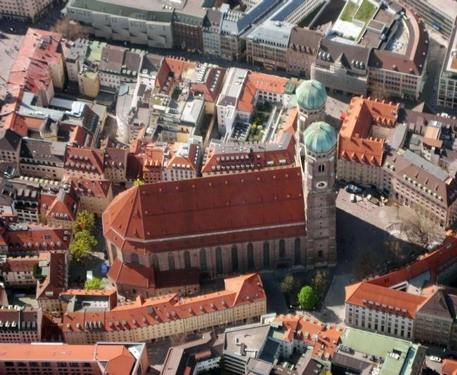 A Bird's Eye View of the Church of Our Lady in Munich Photo, Click for full size