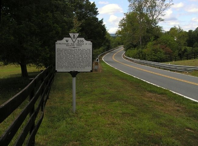 Wide view of the Revolutionary War Campaign of 1781 Marker image. Click for full size.