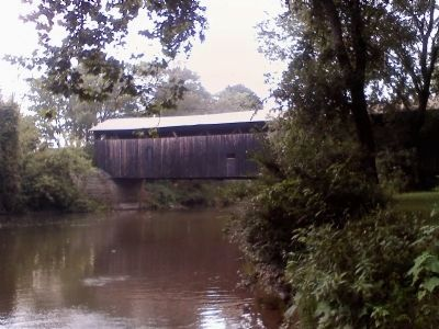 Kidd's Mill Covered Bridge image. Click for full size.