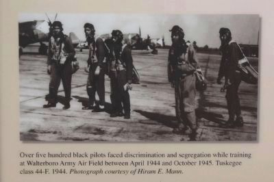 training at Walterboro Army Air Field between April 1944 and October 1945. image. Click for full size.