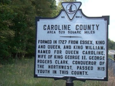 Essex County / Caroline County Marker image. Click for full size.