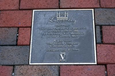 "Time Capsule ""Plaque"" - - Near Statues. . . image. Click for full size."