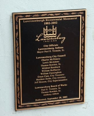 Dedication Plaque . . . image. Click for full size.