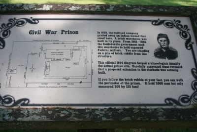 Civil War Prison Marker image. Click for full size.