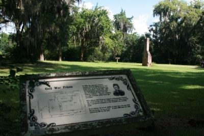 Civil War Prison Marker and Site image. Click for full size.