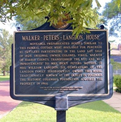Walker – Peters – Langdon House Marker image. Click for full size.