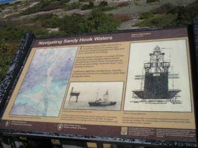 Navigating Sandy Hook Waters Marker image. Click for full size.
