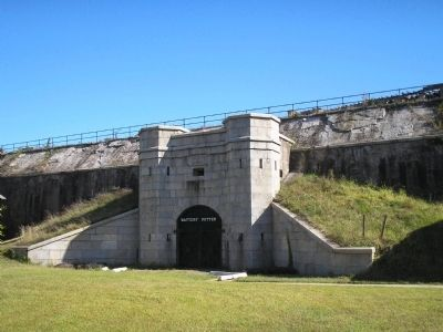 Entrance to Battery Potter image. Click for full size.