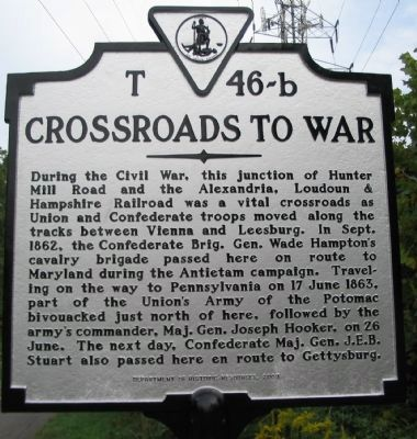 Crossroads to War Marker Photo, Click for full size
