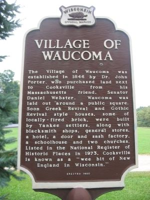 Village of Waucoma Marker <i>(back)</i> image. Click for full size.