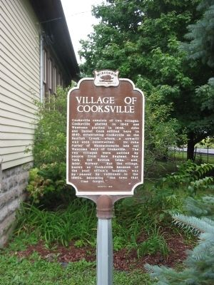 Village of Cooksville / Village of Waucoma Marker image. Click for full size.