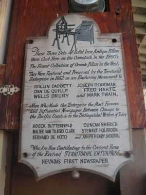 Sign Mounted at Entrance to the Mark Twain Museum image. Click for full size.