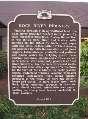 Rock River Industry Marker image. Click for full size.