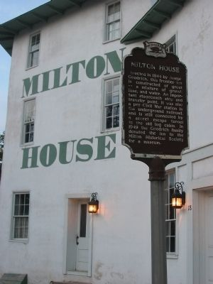 Milton House Marker image. Click for full size.