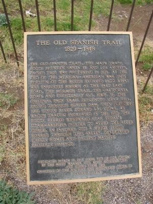 Old Spanish Trail Marker at Beaver Dam/Littlefield, AZ image. Click for full size.