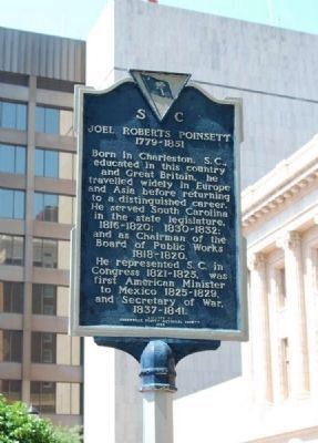 Joel Roberts Poinsett Marker -<br>Front Photo, Click for full size
