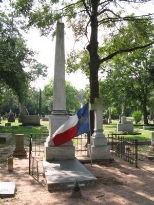 Grave of Republic of Texas President Mirabeau B. Lamar image. Click for full size.