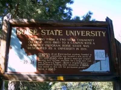 Boise State University Marker Photo, Click for full size