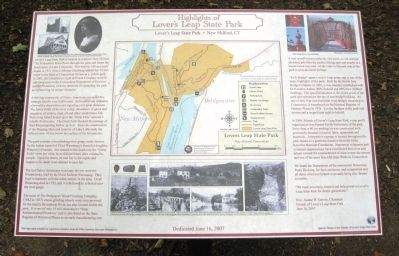 Lover's Leap State Park Marker image. Click for full size.