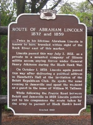 Route of Abraham Lincoln Marker image. Click for full size.