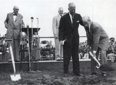 Alester Garden Furman, Jr. -<br>Groundbreaking Ceremonies at New Campus Photo, Click for full size