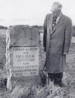 Furman University Marker in the<br>High Hills of the Santee Photo, Click for full size