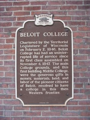 Beloit College Marker image. Click for full size.