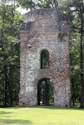 the brick bell tower of St. George�s Anglican Church Photo, Click for full size