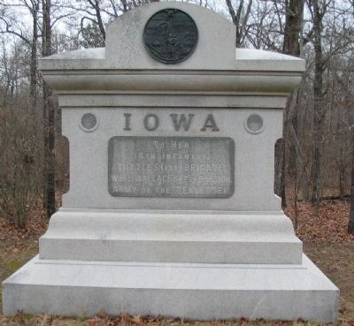14th Iowa Infantry Regiment Monument image. Click for full size.