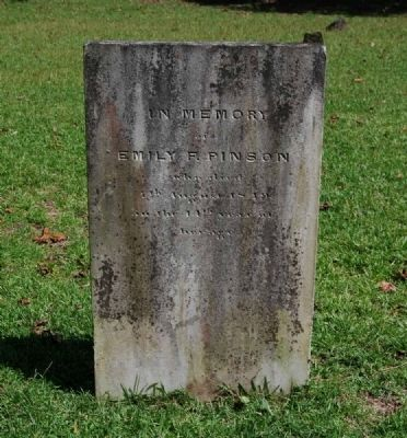 Emily F. Pinson Tombstone image. Click for full size.