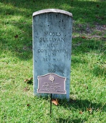 Moses Sullivan Tombstone image. Click for full size.
