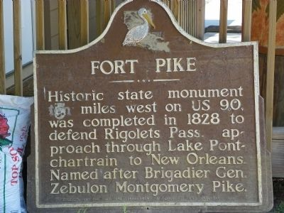 Fort Pike Marker image. Click for full size.