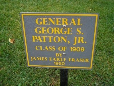 General George S. Patton, Jr. Marker Photo, Click for full size