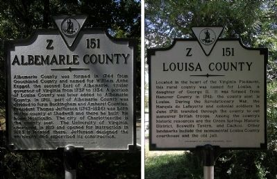 Albemarle County/Louisa County Marker image. Click for full size.