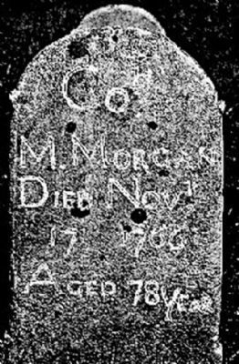 Col. Morgan Morgan Headstone Photo, Click for full size