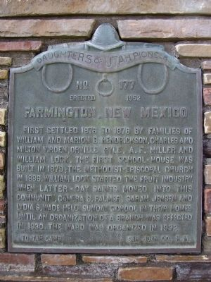 Farmington, New Mexico Marker image. Click for full size.