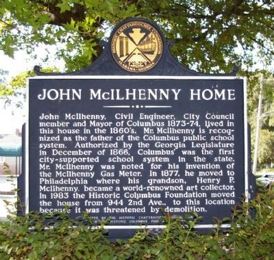 John McIlhenny Home Marker image. Click for full size.