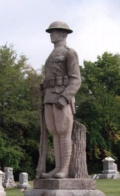 Left Front - World War I Statue image. Click for full size.