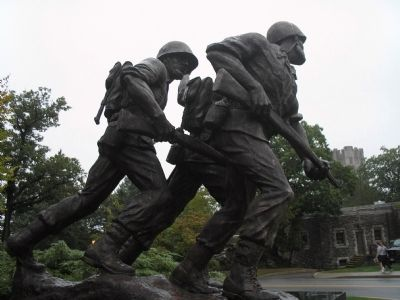 Detail of American Soldier Statue Photo, Click for full size