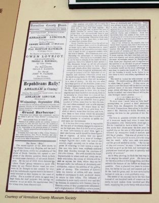 "Center Panel - Newspaper Items - - 1858 ""Grand Barbecue"" - Free to All image. Click for full size."