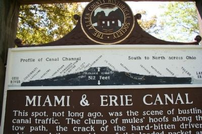 Miami & Erie Canal Marker Photo, Click for full size