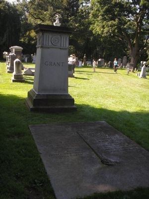 Marker in West Point Cemetery image. Click for full size.