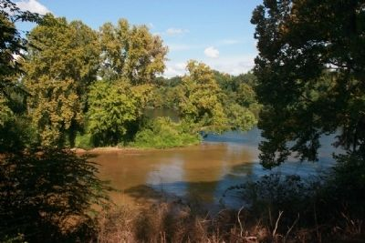 The Confluence of the Cahaba and the Alabama Rivers. image. Click for full size.