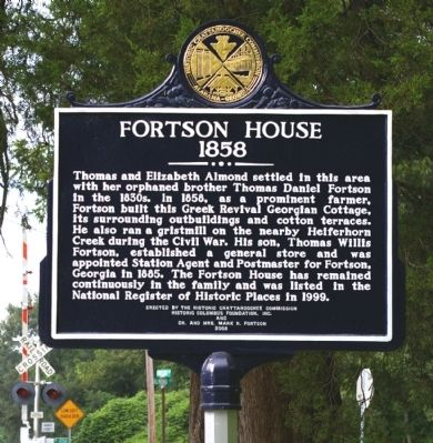 Fortson House Marker Photo, Click for full size