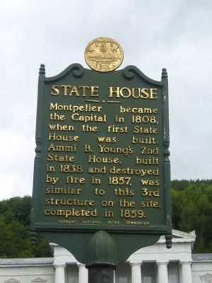 Vermont State House Marker image. Click for full size.