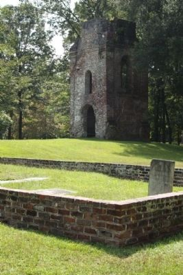 Parish Church of St. George, Bell Tower as mentioned, and Cemetery Photo, Click for full size